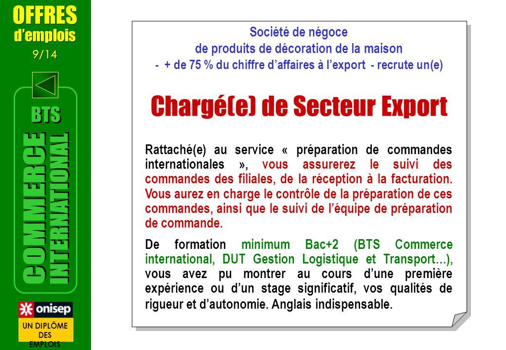 Chargé(e) de Secteur Export
