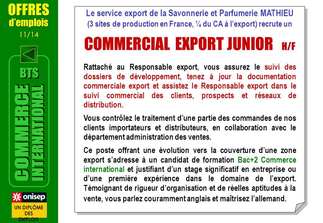 Le service export de la Savonnerie et Parfumerie MATHIEU