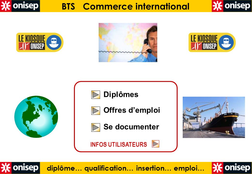 BTS Commerce international diplôme… qualification… insertion… emploi…