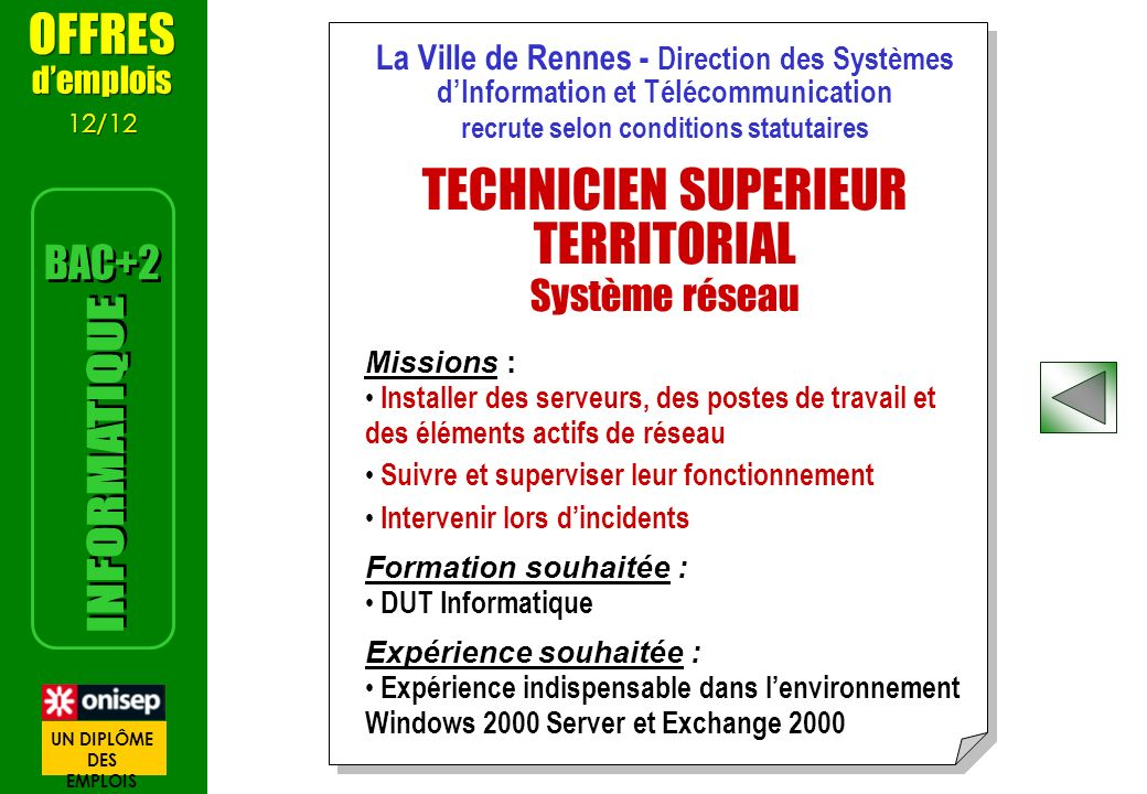 recrute selon conditions statutaires
