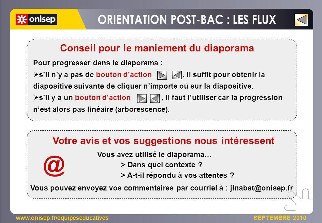 @ ORIENTATION POST-BAC : LES FLUX