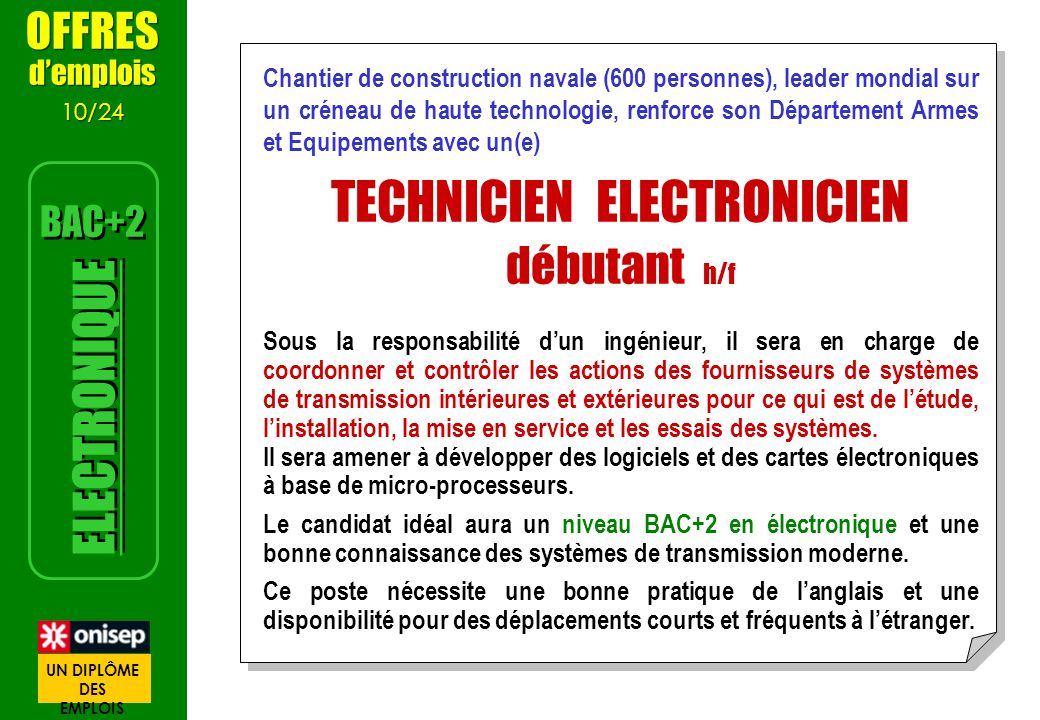 TECHNICIEN ELECTRONICIEN