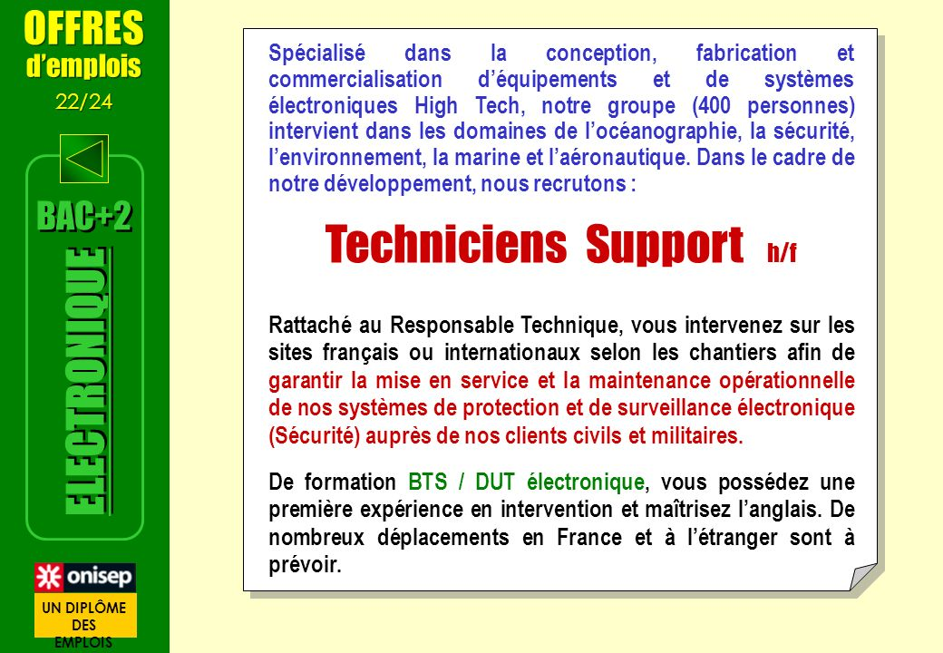 Techniciens Support h/f