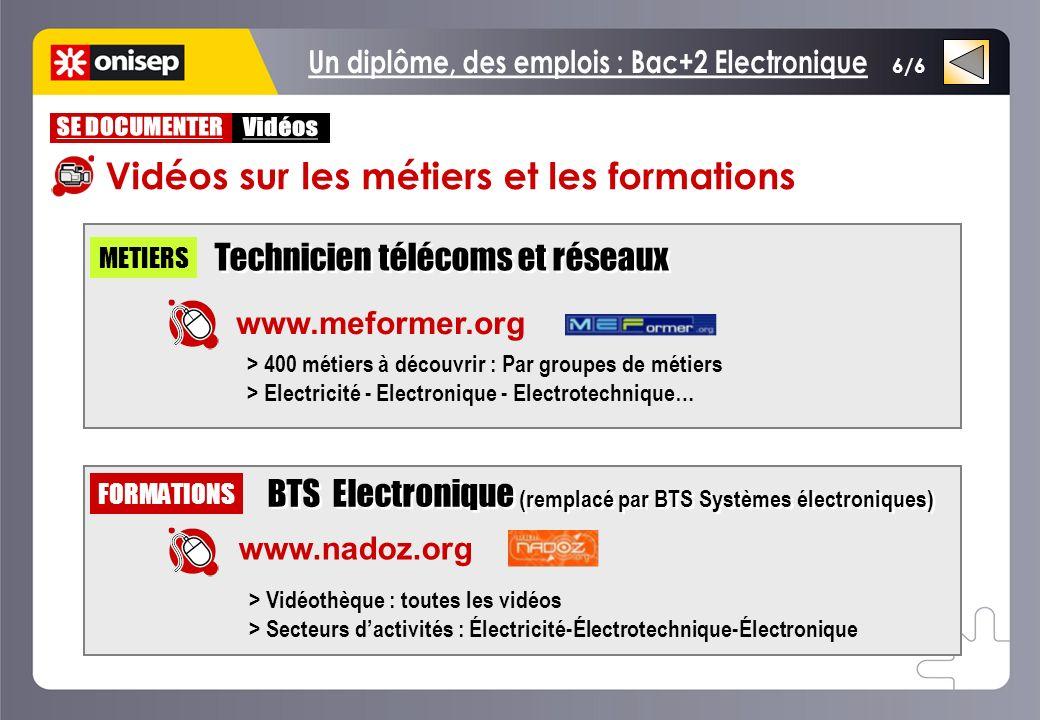 Un diplôme, des emplois : Bac+2 Electronique
