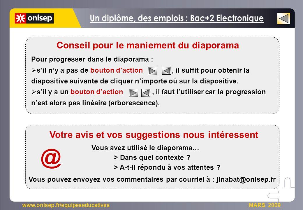 @ Un diplôme, des emplois : Bac+2 Electronique