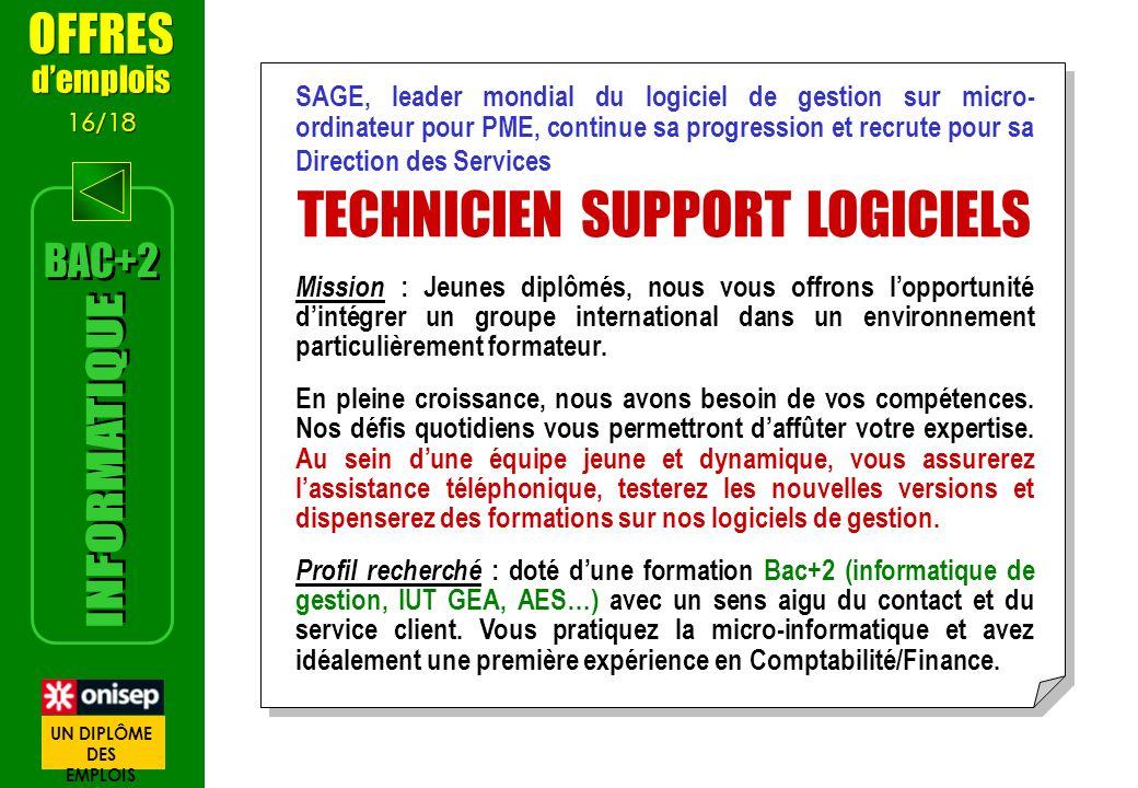 TECHNICIEN SUPPORT LOGICIELS