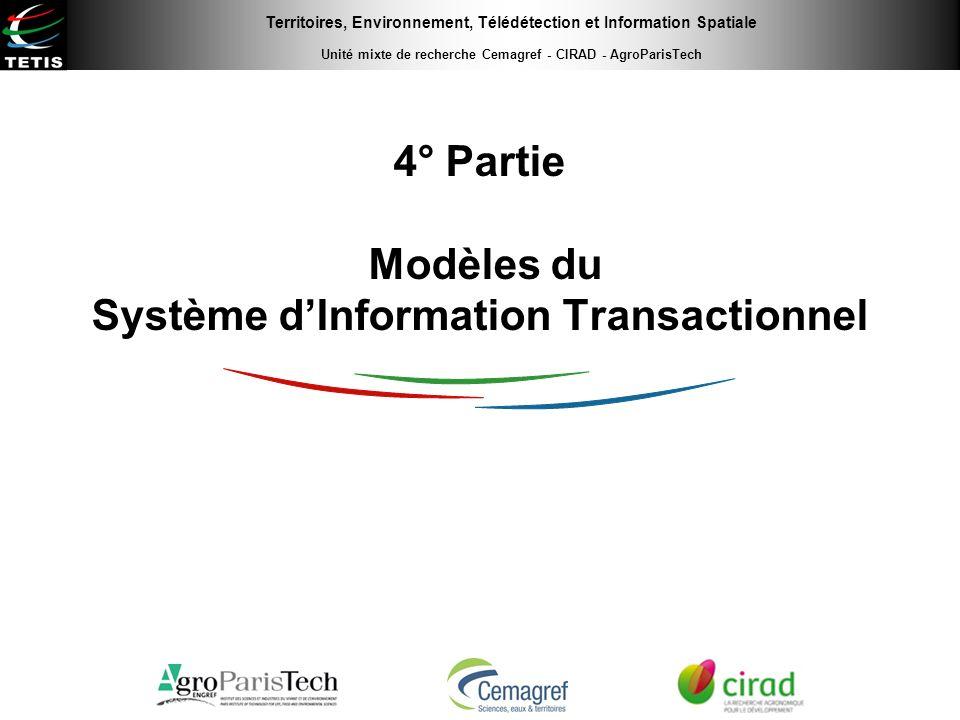 4° Partie Modèles du Système d'Information Transactionnel