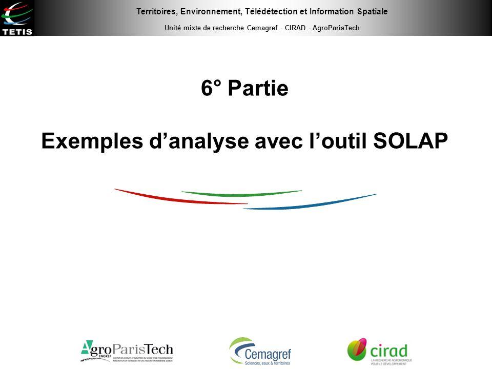 6° Partie Exemples d'analyse avec l'outil SOLAP