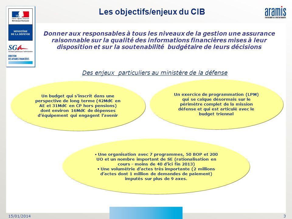Les objectifs/enjeux du CIB