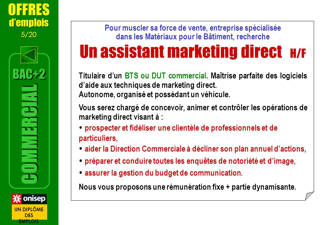 Un assistant marketing direct H/F