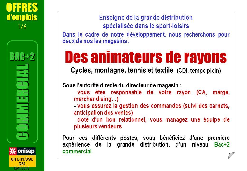 Des animateurs de rayons