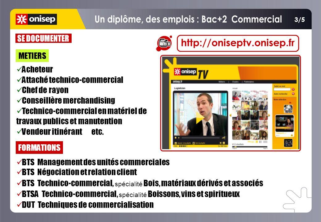 Un diplôme, des emplois : Bac+2 Commercial