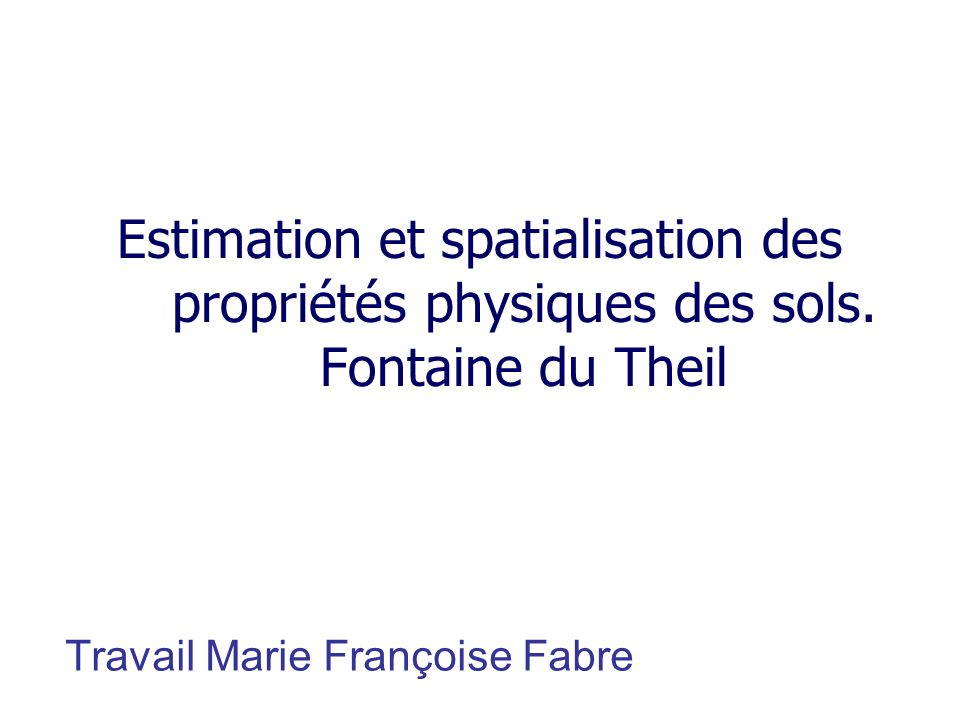 Travail Marie Françoise Fabre