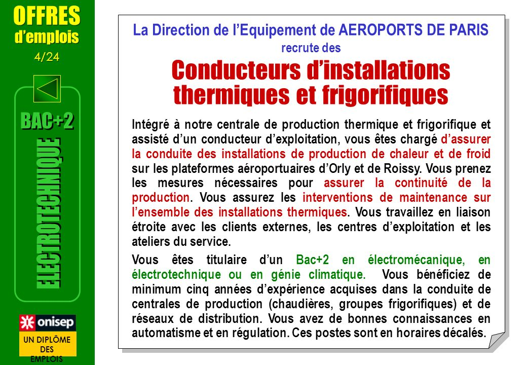 La Direction de l'Equipement de AEROPORTS DE PARIS