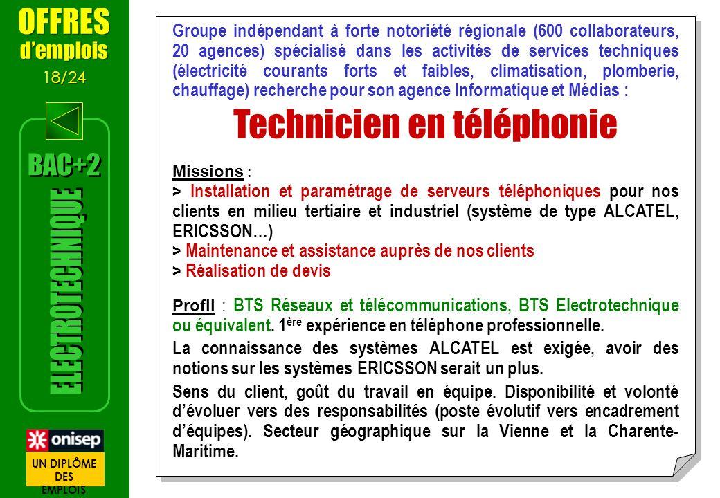 Technicien en téléphonie