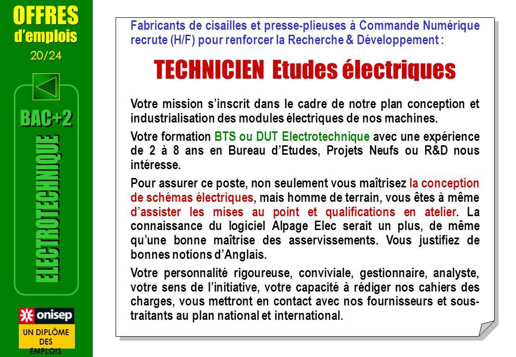TECHNICIEN Etudes électriques