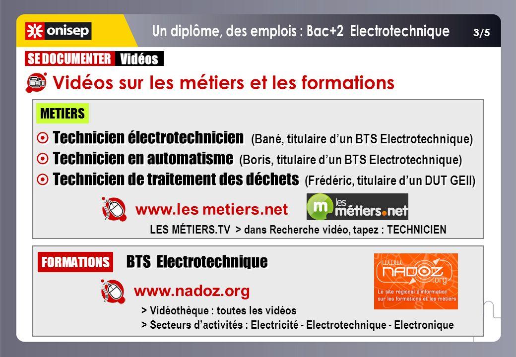 Un diplôme, des emplois : Bac+2 Electrotechnique