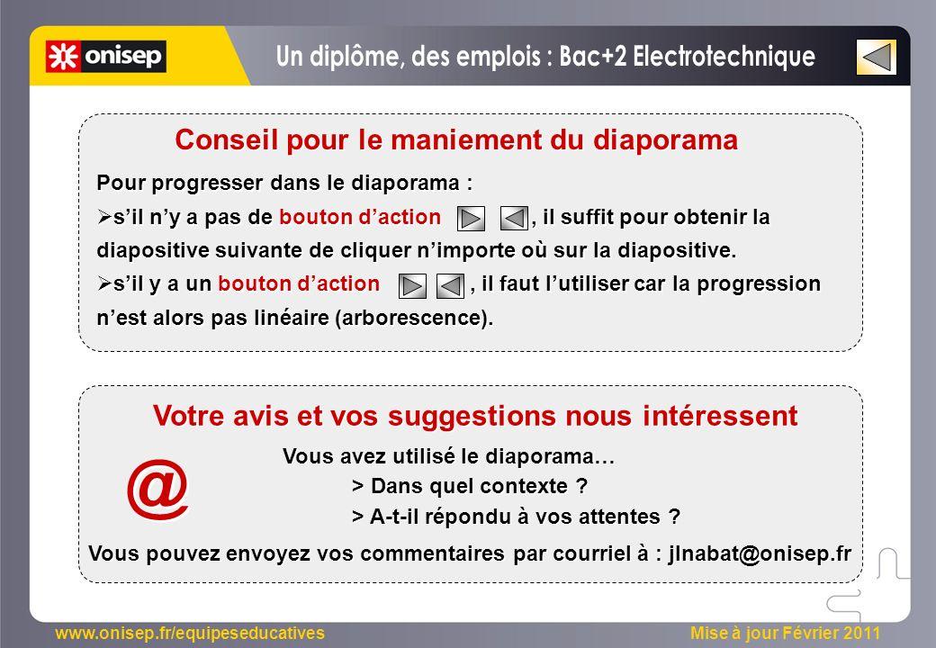 @ Un diplôme, des emplois : Bac+2 Electrotechnique