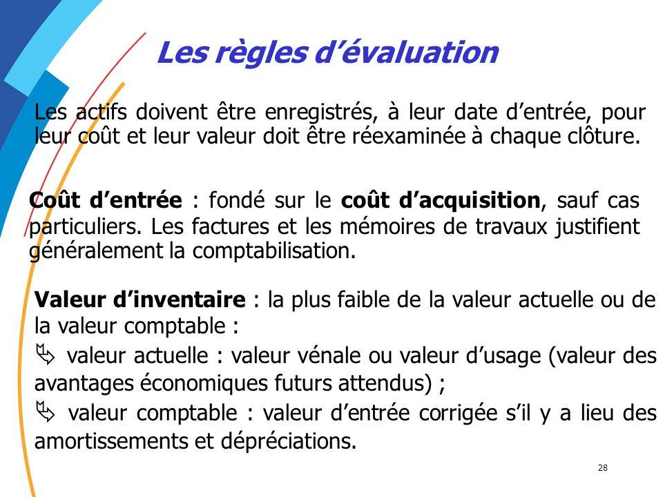 Les règles d'évaluation