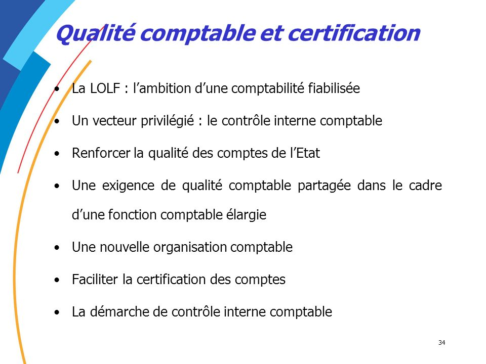 Qualité comptable et certification