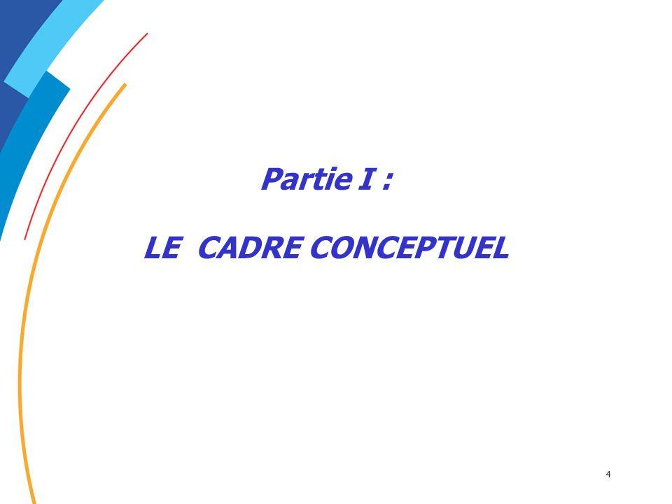Partie I : LE CADRE CONCEPTUEL