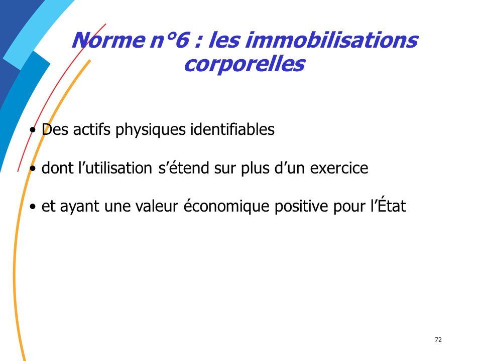 Norme n°6 : les immobilisations corporelles