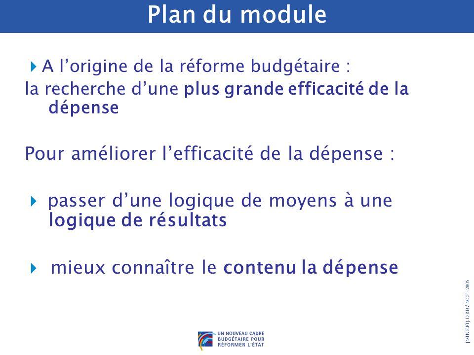 Plan du module Pour améliorer l'efficacité de la dépense :
