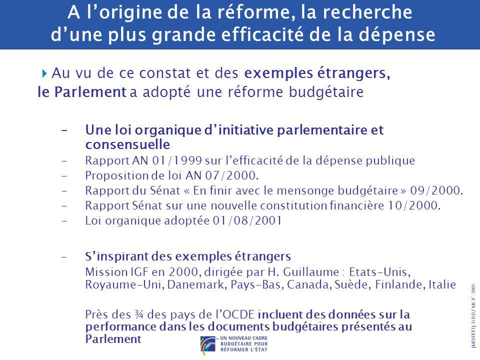 A l'origine de la réforme, la recherche d'une plus grande efficacité de la dépense