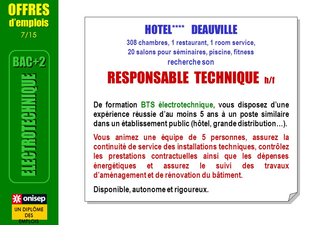 RESPONSABLE TECHNIQUE h/f