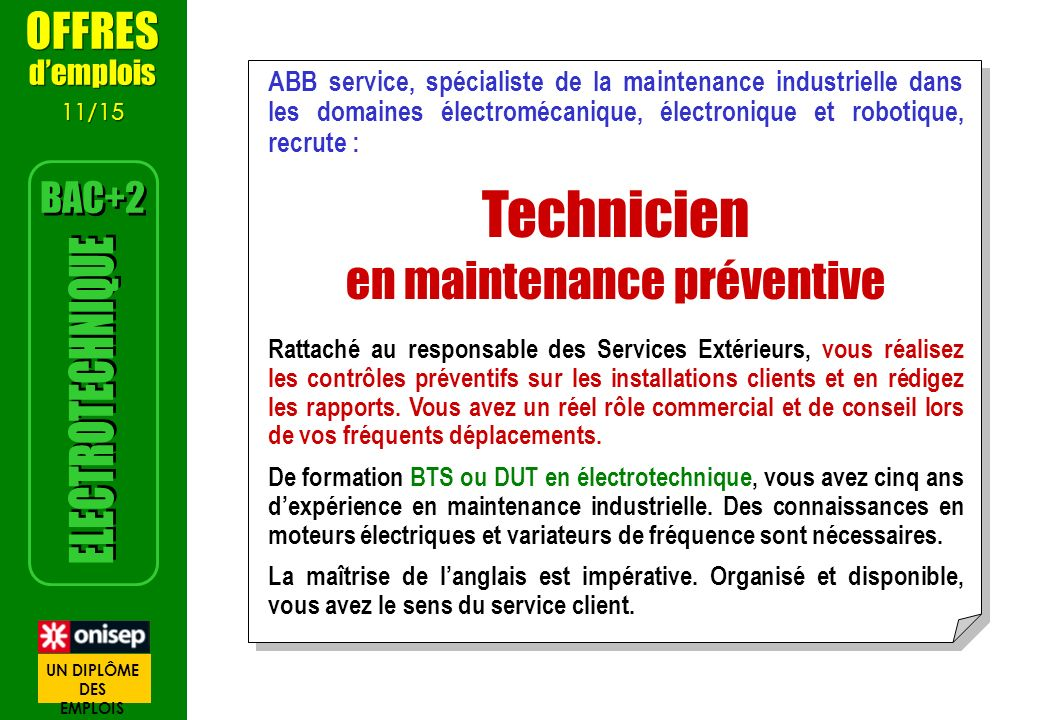 en maintenance préventive