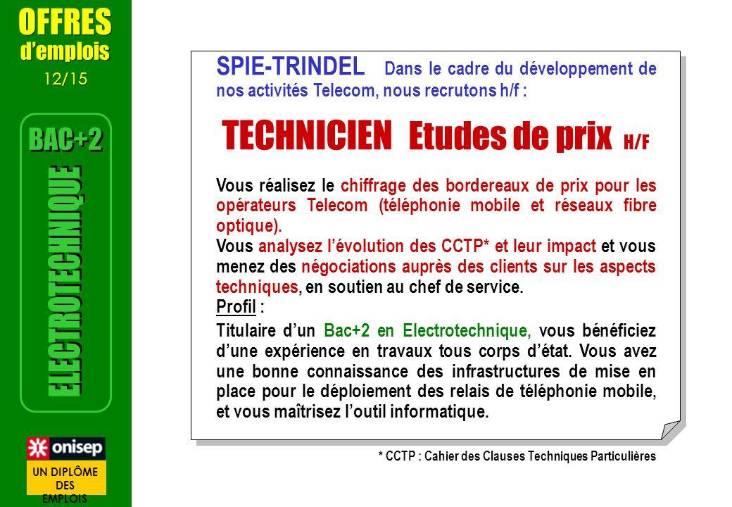 * CCTP : Cahier des Clauses Techniques Particulières