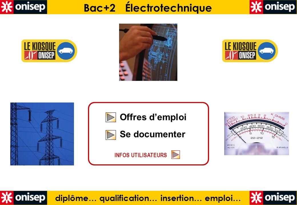 Bac+2 Électrotechnique diplôme… qualification… insertion… emploi…