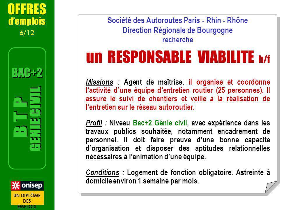un RESPONSABLE VIABILITE h/f