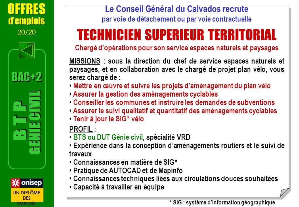 TECHNICIEN SUPERIEUR TERRITORIAL