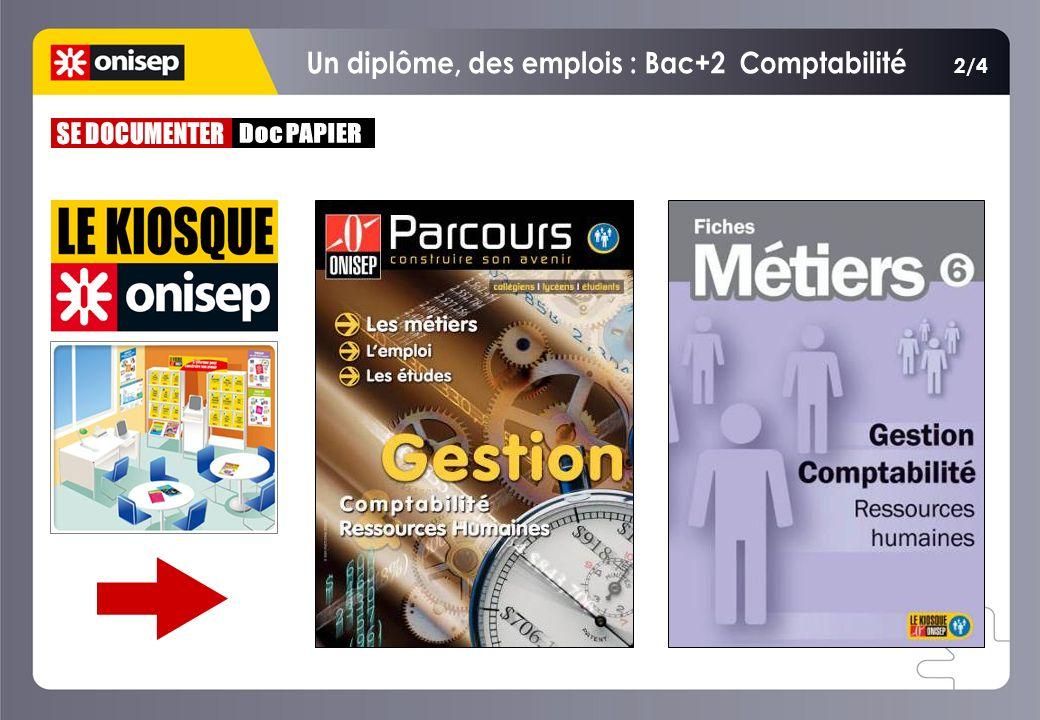 Un diplôme, des emplois : Bac+2 Comptabilité