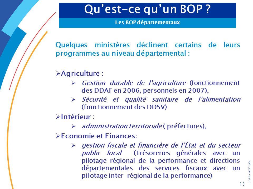 Les BOP départementaux
