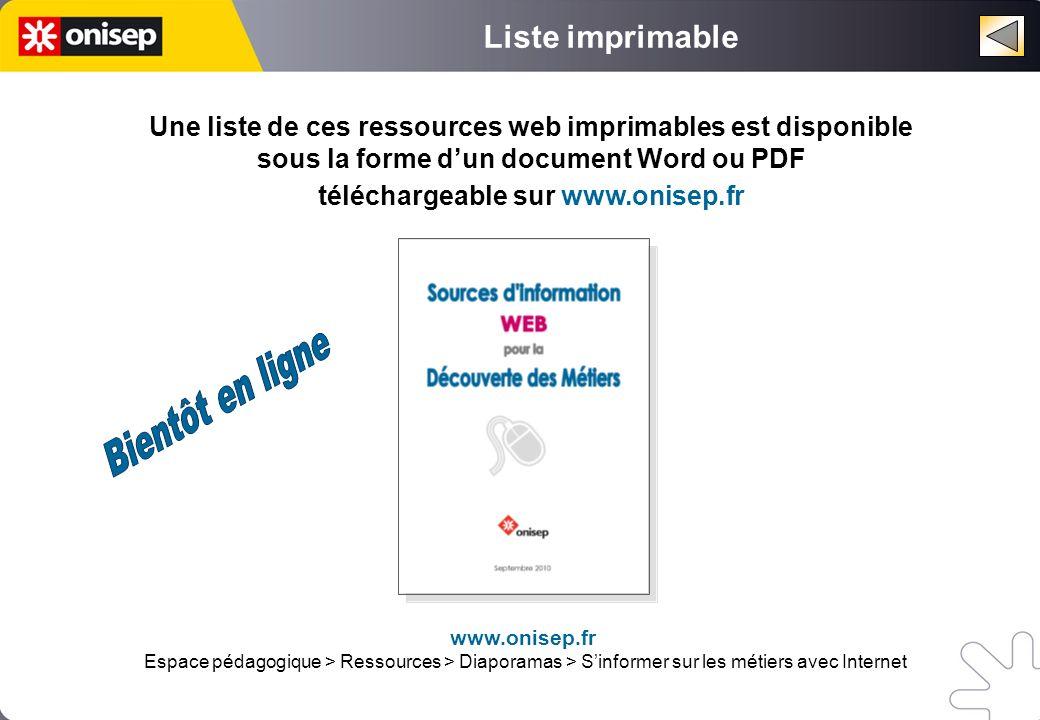 téléchargeable sur www.onisep.fr