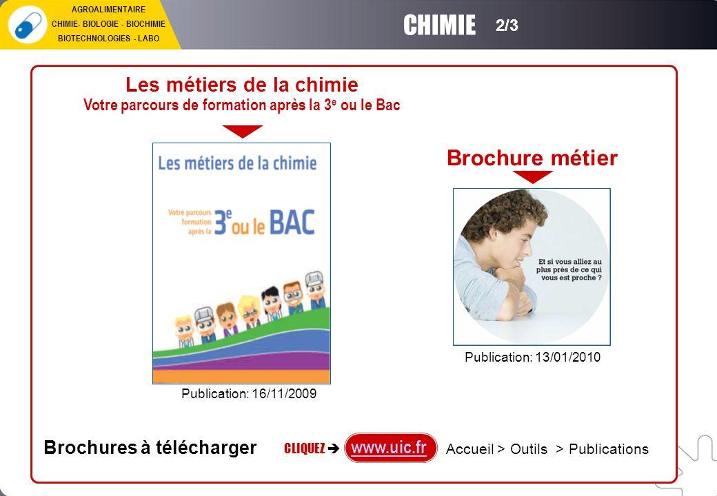 CHIMIE Brochure métier Les métiers de la chimie