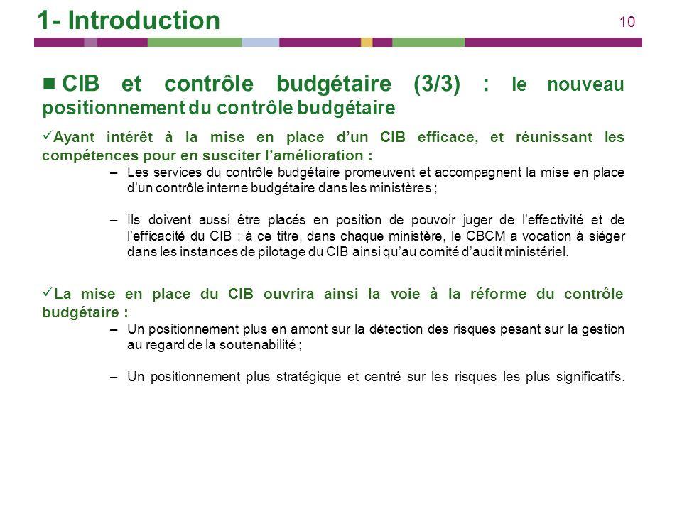 1- Introduction CIB et contrôle budgétaire (3/3) : le nouveau positionnement du contrôle budgétaire.