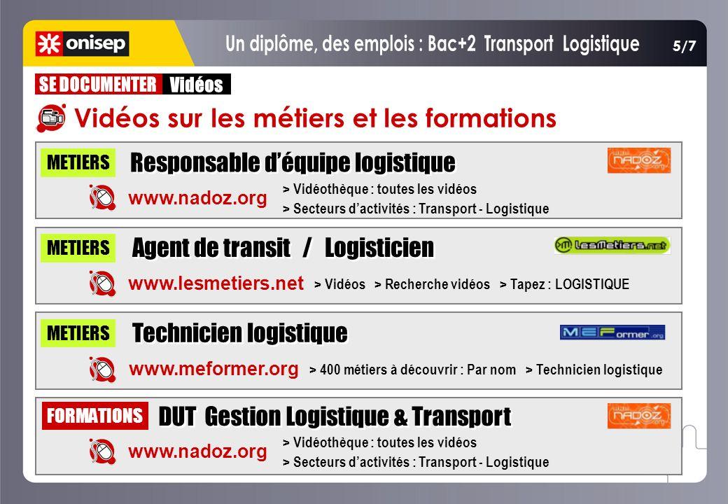 Un diplôme, des emplois : Bac+2 Transport Logistique