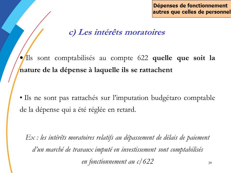 c) Les intérêts moratoires