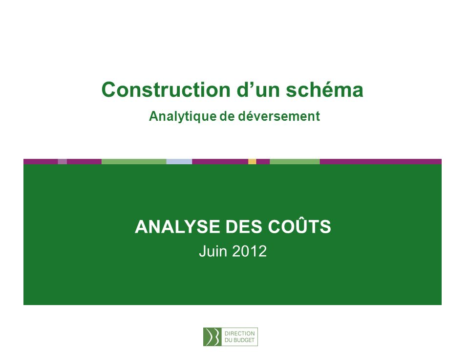 Construction d'un schéma Analytique de déversement