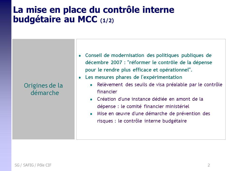 La mise en place du contrôle interne budgétaire au MCC (1/2)