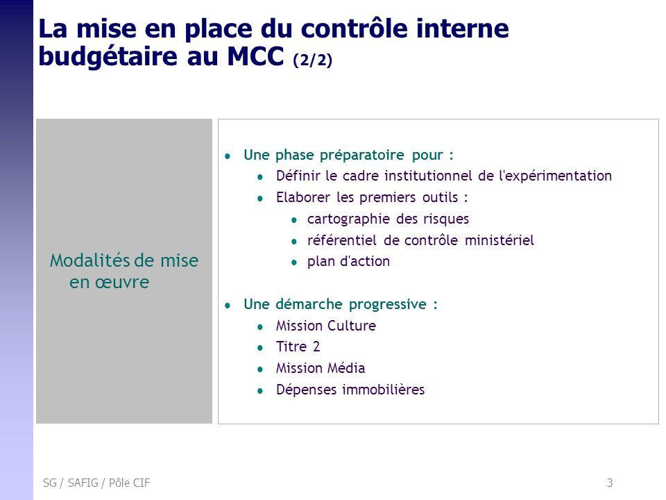 La mise en place du contrôle interne budgétaire au MCC (2/2)
