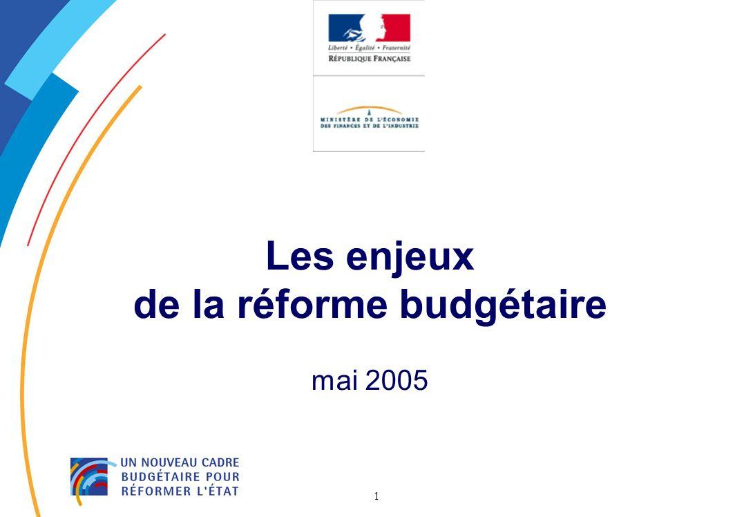 Les enjeux de la réforme budgétaire