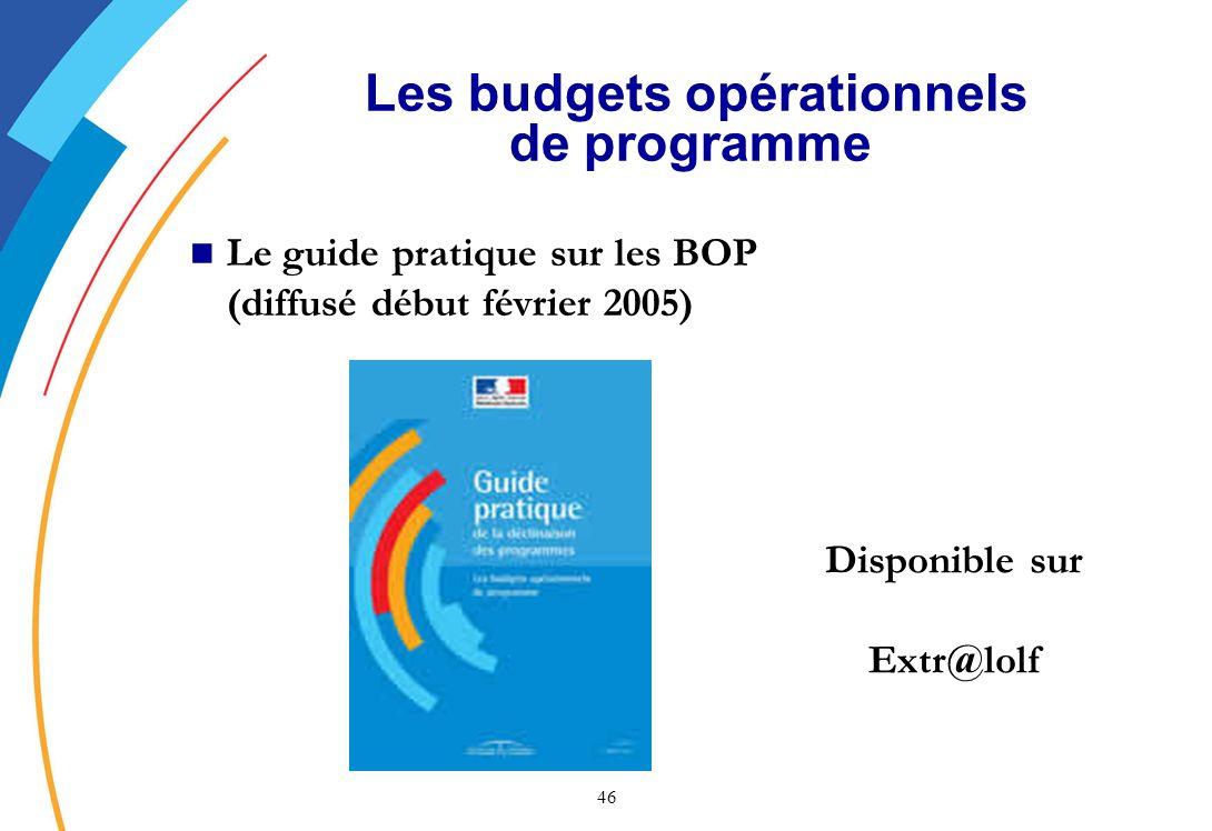Les budgets opérationnels de programme