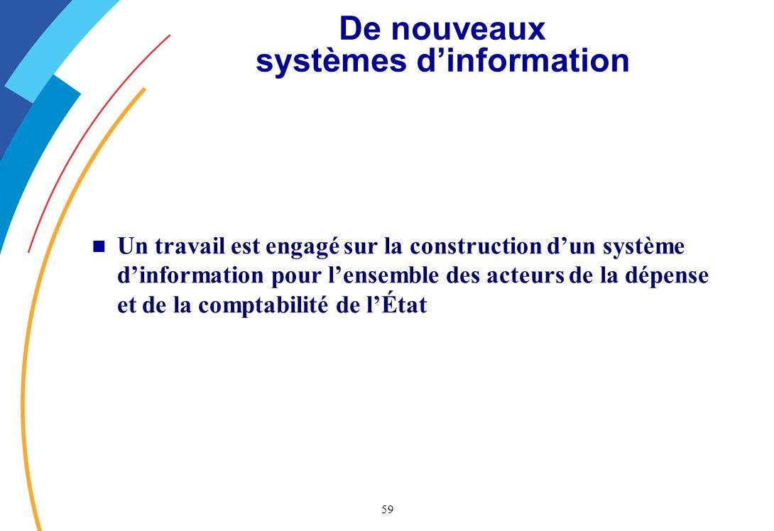 De nouveaux systèmes d'information