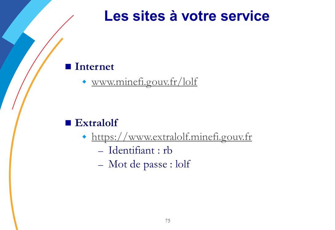 Les sites à votre service