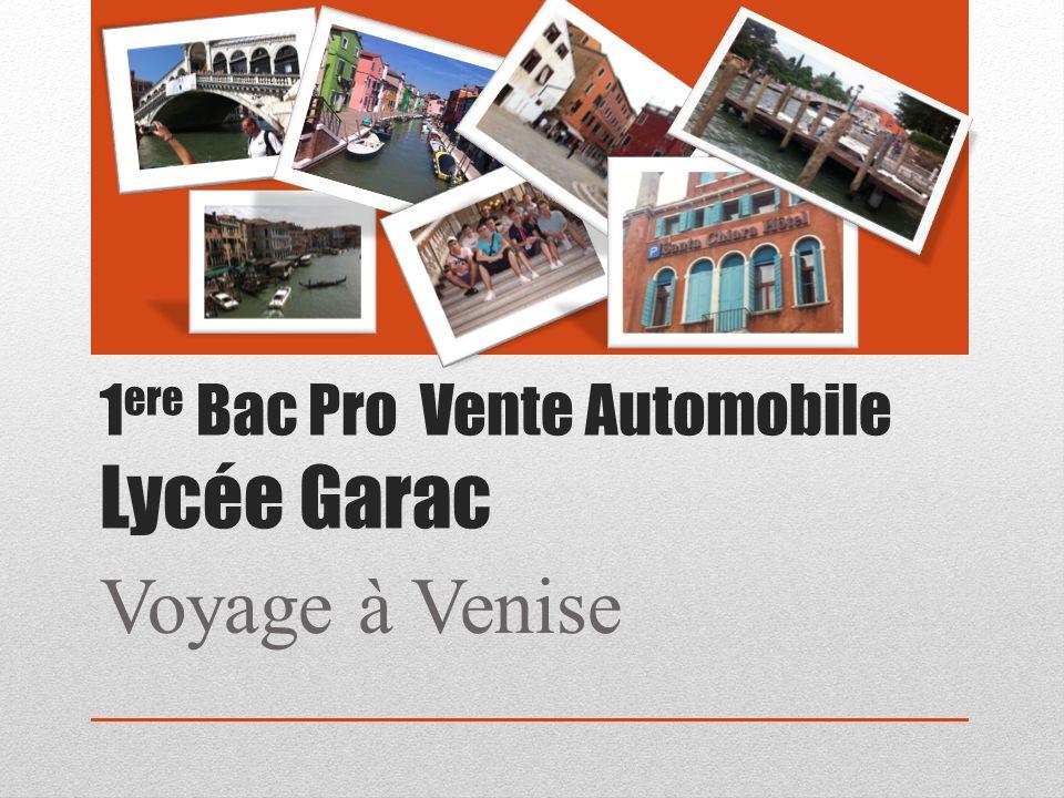 1ere Bac Pro Vente Automobile Lycée Garac