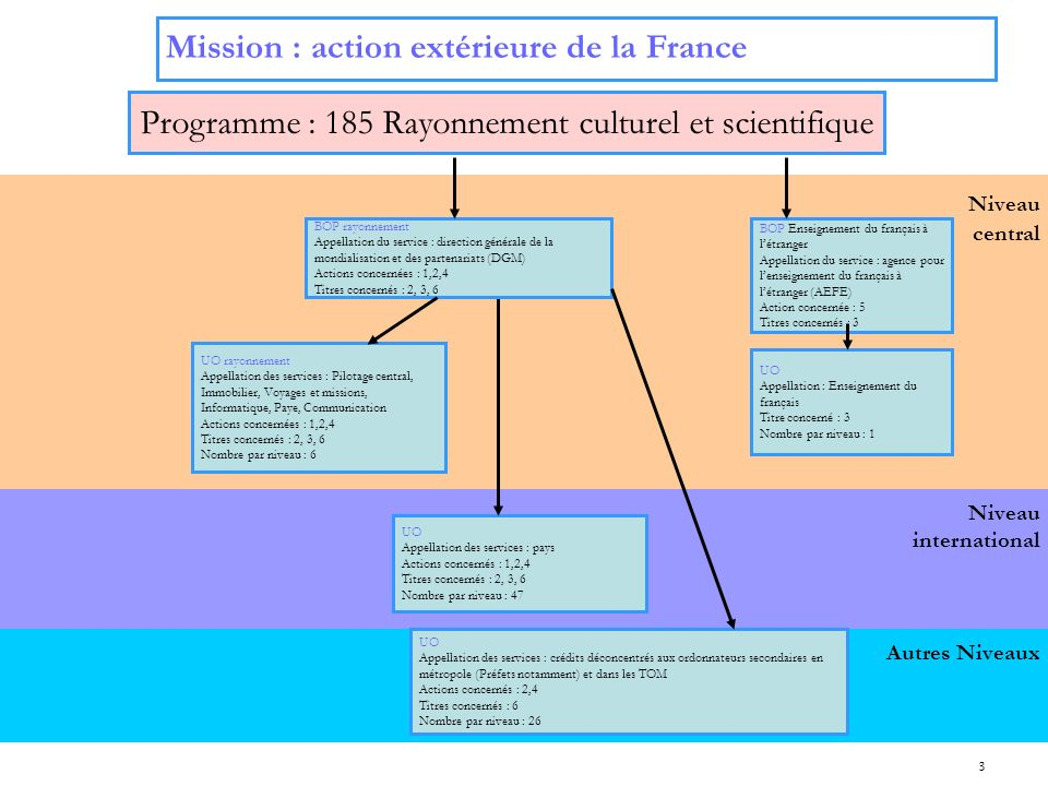 Programme : 185 Rayonnement culturel et scientifique